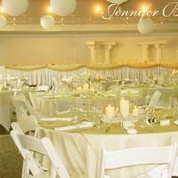 Reception, Flowers & Decor, Destinations, white, gold, North America, Canada, Edmonton, Alberta, Jennifer bergman weddings, Paper lanterns, Hanging lanterns
