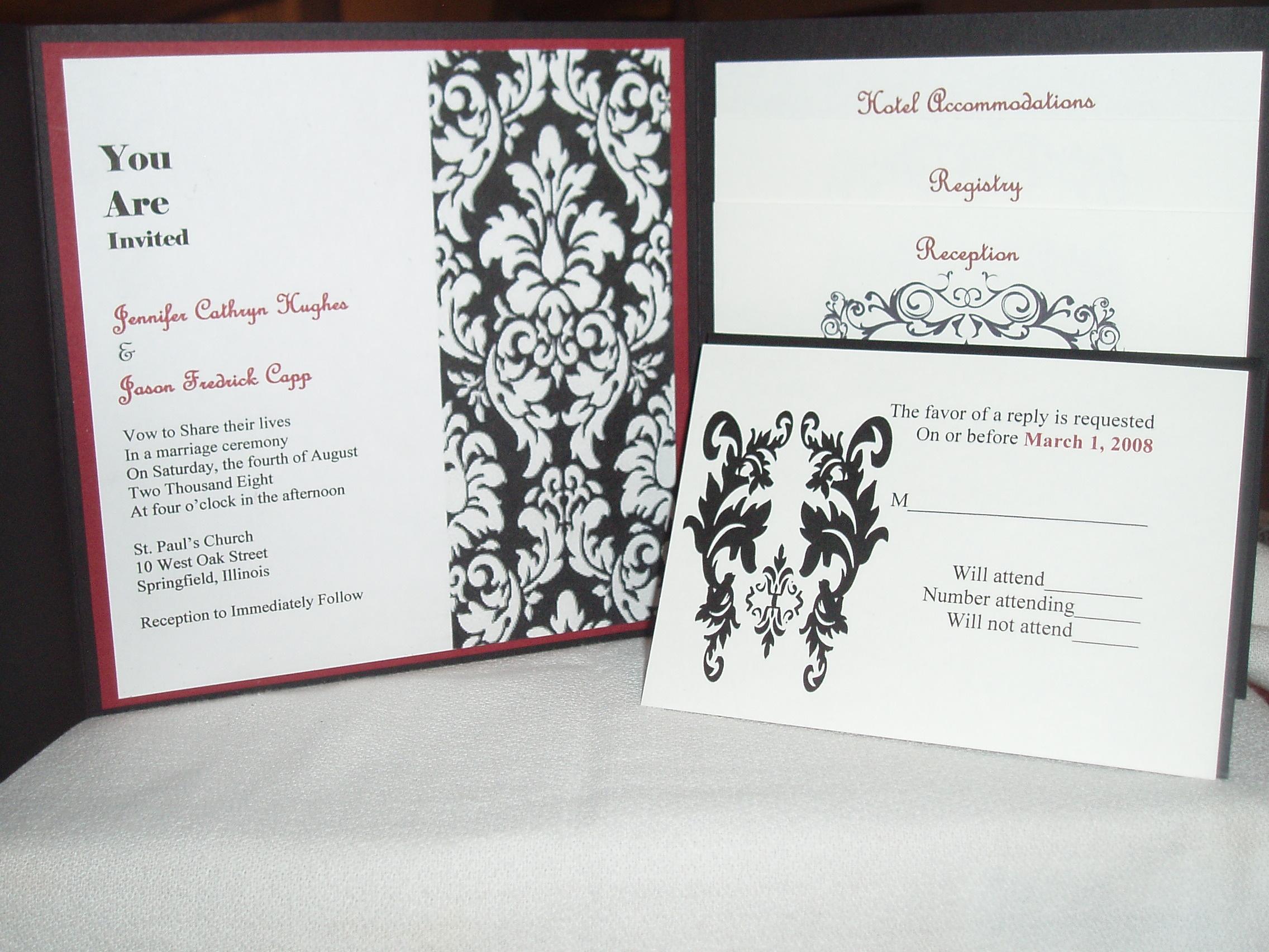 Stationery, white, black, Invitations, Rsvp, Pocket, Platinum invitations stationery, Enclosures
