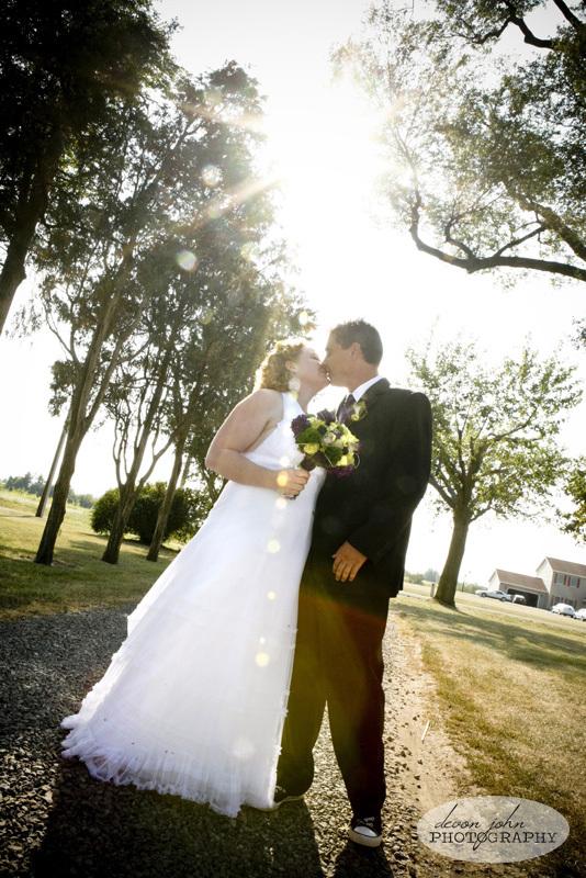 purple, green, Bride groom, Devon john photography