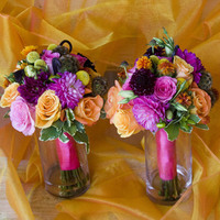 Ceremony, Inspiration, Reception, Flowers & Decor, Bridesmaids, Bridesmaids Dresses, Fashion, yellow, orange, pink, blue, green, Ceremony Flowers, Bridesmaid Bouquets, Flowers, Roses, Board, Bouquets, Dahlias, Simply that flowers, Flower Wedding Dresses