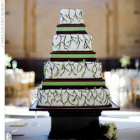 Cakes, white, green, cake, Stand, Idea