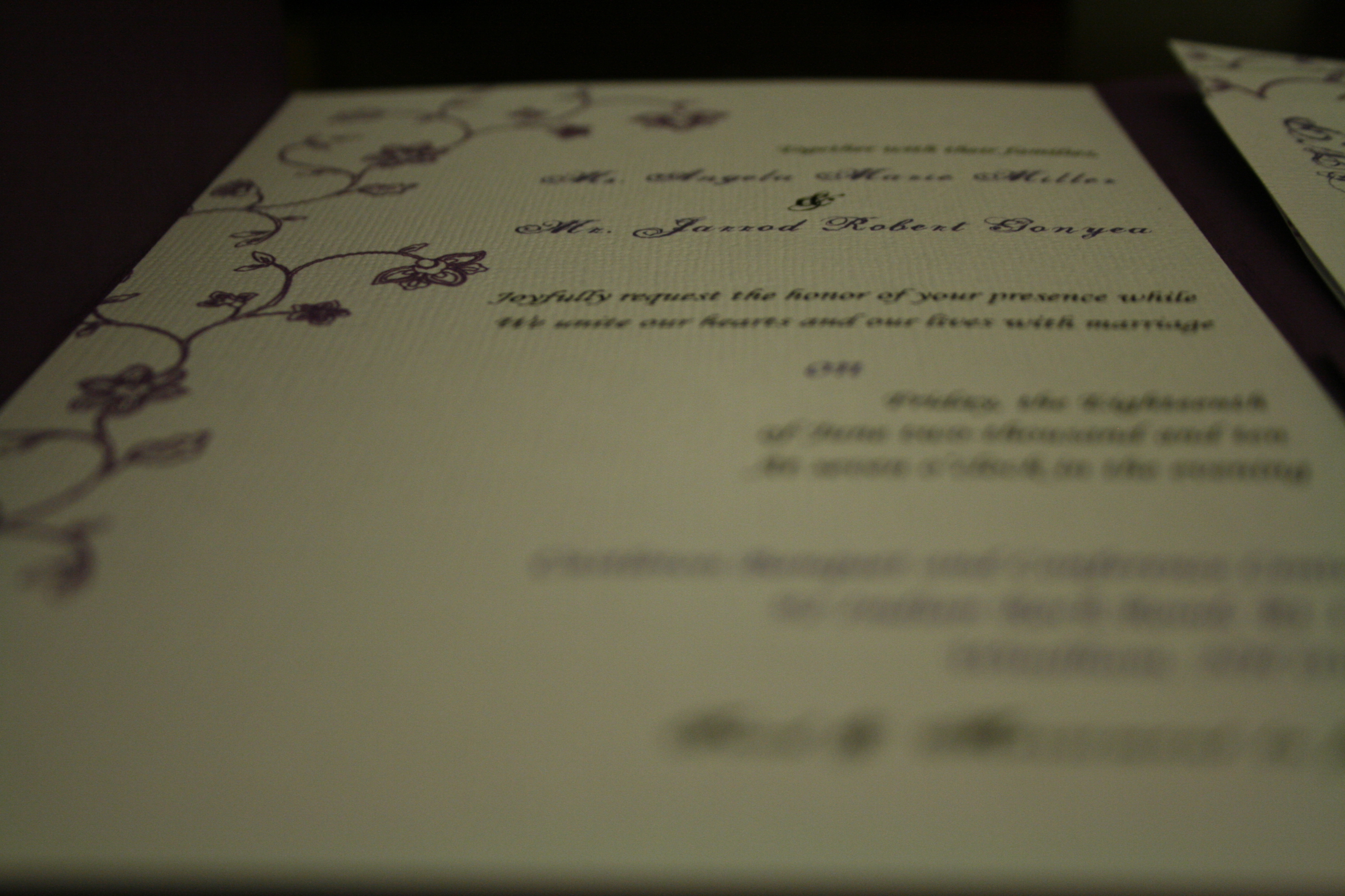 Stationery, purple, invitation, Invitations