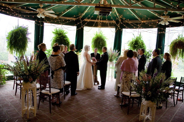 Ceremony, Flowers & Decor, Wedding Dresses, Fashion, dress, Ceremony Flowers, Bride Bouquets, Garden, Guests, Bride, Flowers, Garden Wedding Flowers & Decor, Groom, Lights, Terrace, Gramercy mansion, Flower Wedding Dresses
