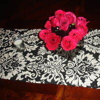 Flowers & Decor, black, Centerpieces, Flowers, Centerpiece, Damask
