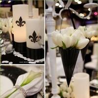 Inspiration, Flowers & Decor, black, Flowers, Board, Cone, Petal, Glossy