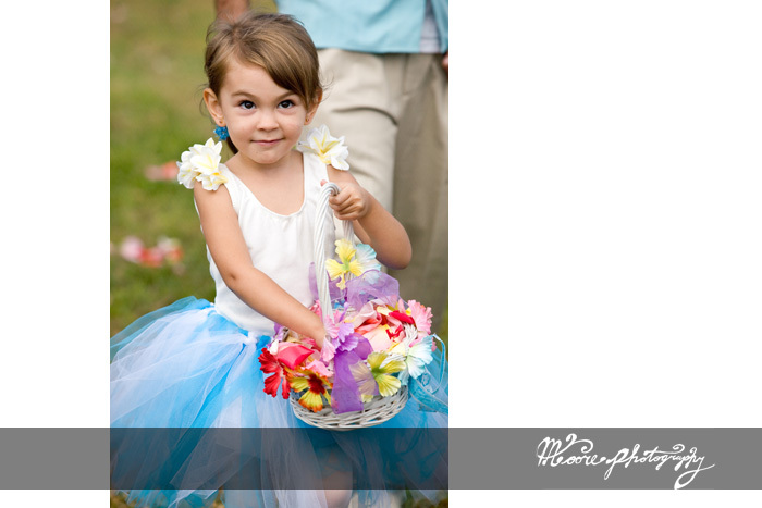 white, blue, Flower girl, Beach wedding, Moore photography