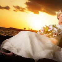 Beauty, Inspiration, Wedding Dresses, Beach Wedding Dresses, Destinations, Fashion, white, yellow, brown, gold, dress, Hawaii, Beach, Bride, Groom, Wedding, Hair, Board, Hawaii weddings - kauai wedding planner