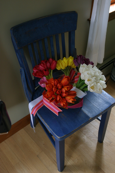 Ceremony, Reception, Flowers & Decor, Bridesmaids, Bridesmaids Dresses, Fashion, white, yellow, pink, purple, Ceremony Flowers, Bridesmaid Bouquets, Flowers, Flower, Girl, Tulips, Flowerbudcom, Flower Wedding Dresses
