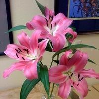 Reception, Flowers & Decor, Bridesmaids, Bridesmaids Dresses, Fashion, pink, green, Bridesmaid Bouquets, Flowers, Lilies, Flowerbudcom, Flower Wedding Dresses