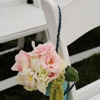 Ceremony, Flowers & Decor, Decor, pink, blue, Ceremony Flowers, Aisle Decor, Flowers, Aisle, Enchanted garden floral event design