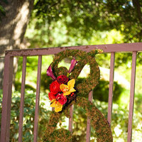 Ceremony, Flowers & Decor, yellow, red, Ceremony Flowers, Flowers, Monogram, Enchanted garden floral event design, Entry gate