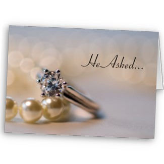 Jewelry, Stationery, white, silver, Engagement Rings, Announcements, Invitations, Pearls, Engagement, Announcement, Engaged, Engagement ring, Fiance, Fiancee, Propose, Announce, Diamond ring, A wedding collection by lora severson photography, Engagement announcement