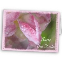 Flowers & Decor, Stationery, pink, Announcements, Invitations, Save-the-Dates, Flower, Save the date, Floral, Tulip, Announcement, Announce, Pink wedding, A wedding collection by lora severson photography, Wedding save the date, Floral wedding