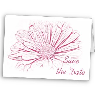 Flowers & Decor, Stationery, pink, Announcements, Invitations, Save-the-Dates, Flower, Save the date, Floral, Daisy, Announcement, Announce, Pink wedding, A wedding collection by lora severson photography, Wedding save the date, Floral wedding