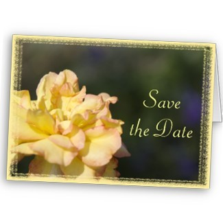 Flowers & Decor, Stationery, yellow, green, Announcements, Invitations, Save-the-Dates, Flower, Save the date, Floral, Rose, Announcement, Announce, A wedding collection by lora severson photography, Wedding save the date, Floral wedding, Yellow rose, Yellow wedding