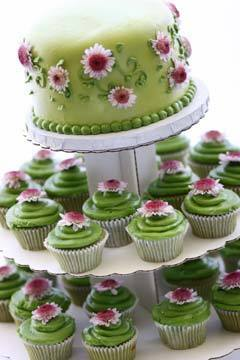 Flowers & Decor, Cakes, green, cake, Cupcakes, Flowers, Wedding, Sage, Daisies