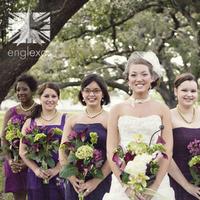 Flowers & Decor, Bridesmaids, Bridesmaids Dresses, Fashion, purple, green, Bridesmaid Bouquets, Flowers, Englexas photography, Flower Wedding Dresses
