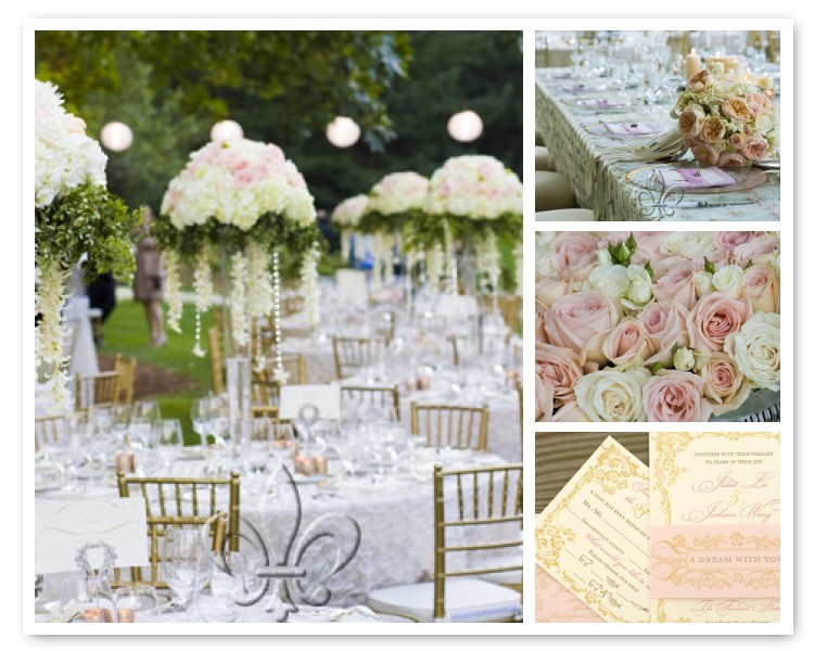 Inspiration, Reception, Flowers & Decor, white, pink, green, gold, Flowers, Board
