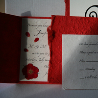 Stationery, Paper, white, red, black, Invitations, Roses, Programs, Cards, Table, Rsvp, Numbers, Place, Handmade, Sleepy hedgehog press, Mullberry