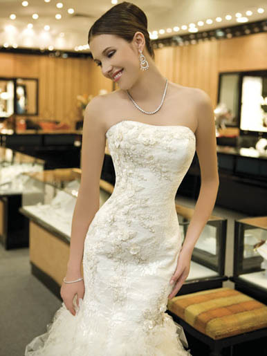 Wedding Dresses, Fashion, blue, dress, Demetrios, B126