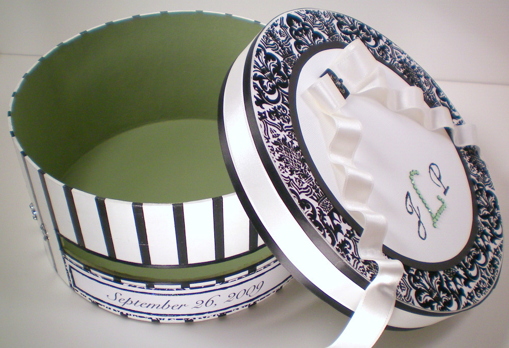 Reception, Flowers & Decor, Decor, white, green, black, Bridal Shower, Handmade, Divine creations, Cake card box