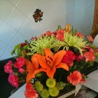 Flowers & Decor, orange, pink, green, brown, Centerpieces, Flowers, Centerpiece