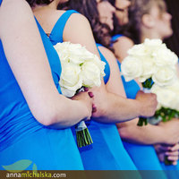 Ceremony, Flowers & Decor, Bridesmaids, Bridesmaids Dresses, Fashion, blue, Ceremony Flowers, Bridesmaid Bouquets, Flowers, Anna michalska photography, Flower Wedding Dresses