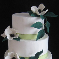 Cakes, white, green, black, cake, Wedding cake, Sugar flower shop, Sugar flowers
