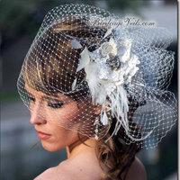 Beauty, Ceremony, Flowers & Decor, Veils, Fashion, white, Ceremony Flowers, Flowers, Veil, Hair, Birdcage, Flower Wedding Dresses