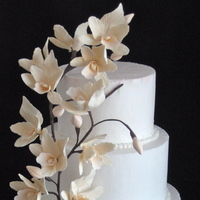 Cakes, white, orange, brown, gold, cake, Wedding cake, Sugar flower shop, Sugar flowers