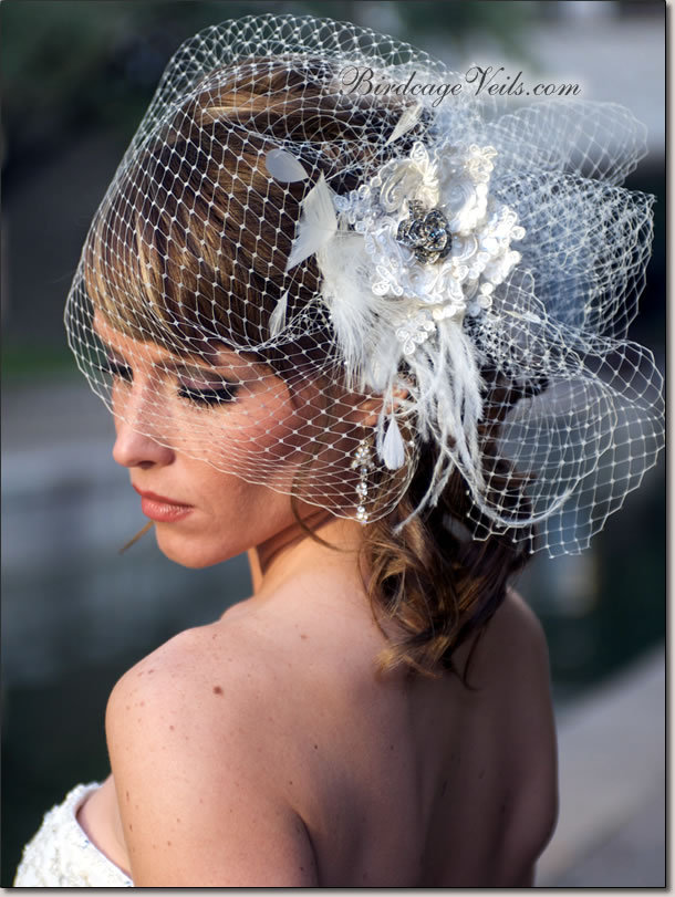 Beauty, Ceremony, Flowers & Decor, Veils, Fashion, white, Ceremony Flowers, Flowers, Veil, Hair, Birdcage, Flower Wedding Dresses
