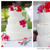 Cakes, white, pink, red, cake, Ashleigh taylor photography