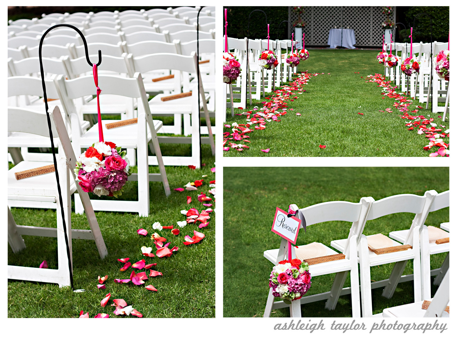 Ceremony, Flowers & Decor, white, pink, red, purple, green, Ceremony Flowers, Flowers, The, Details, Estate, Clarke, Ashleigh taylor photography