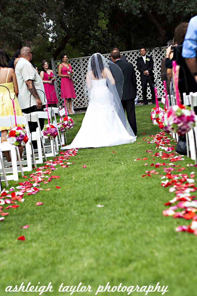 Ceremony, Flowers & Decor, white, pink, red, purple, green, Ashleigh taylor photography