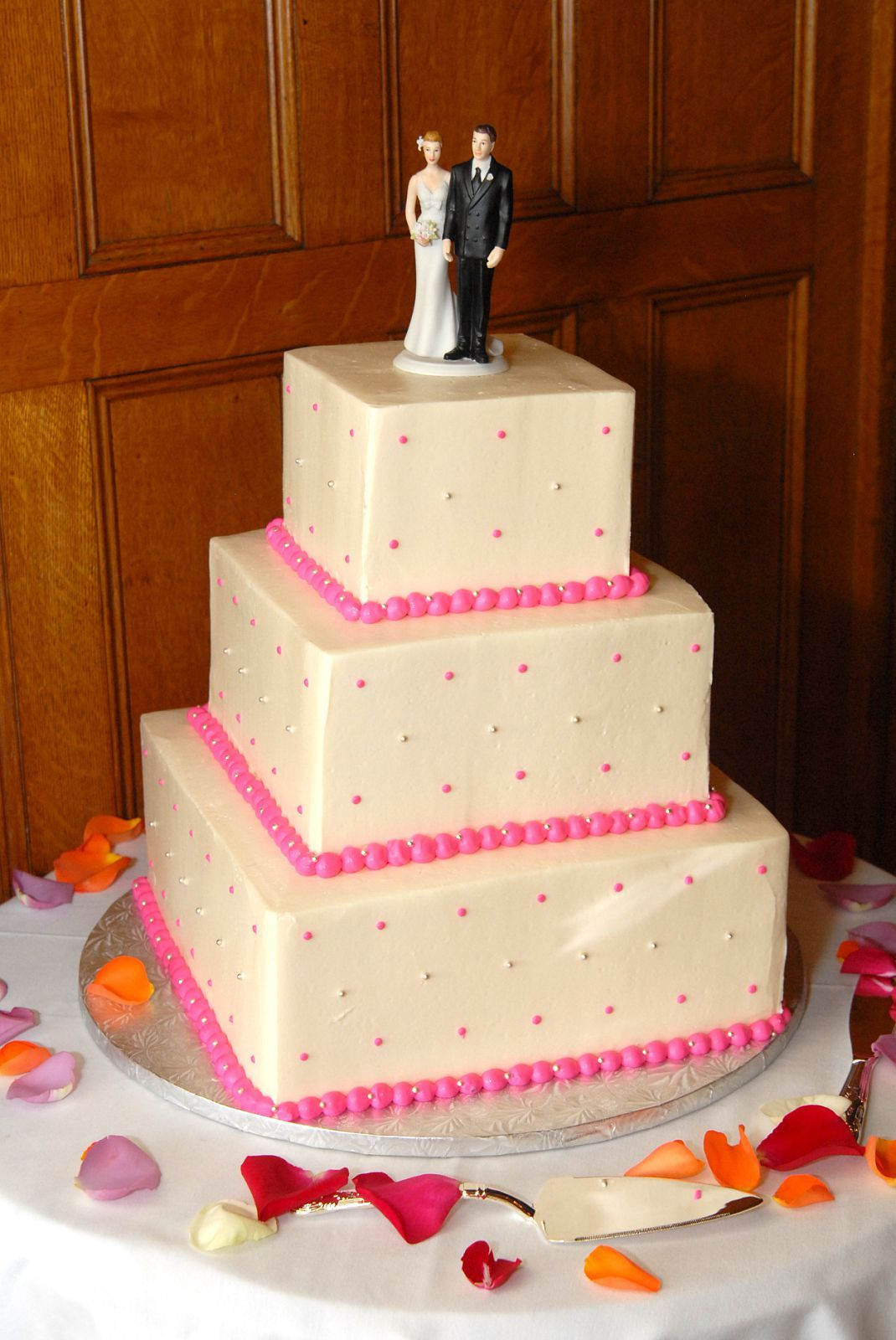 Inspiration, Reception, Flowers & Decor, Cakes, white, pink, silver, cake, Board