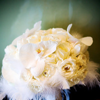 Beauty, white, Feathers, Bouquet