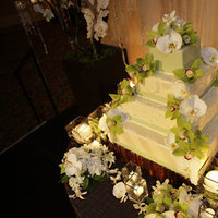 Reception, Flowers & Decor, Cakes, white, green, cake