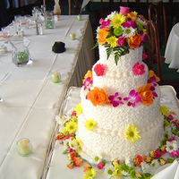 Flowers & Decor, Cakes, yellow, orange, pink, red, purple, green, cake, Flowers, Sylvias flowers