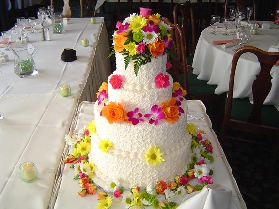 Flowers & Decor, Cakes, yellow, orange, pink, red, purple, green, cake, Flowers, Sylvias flowers