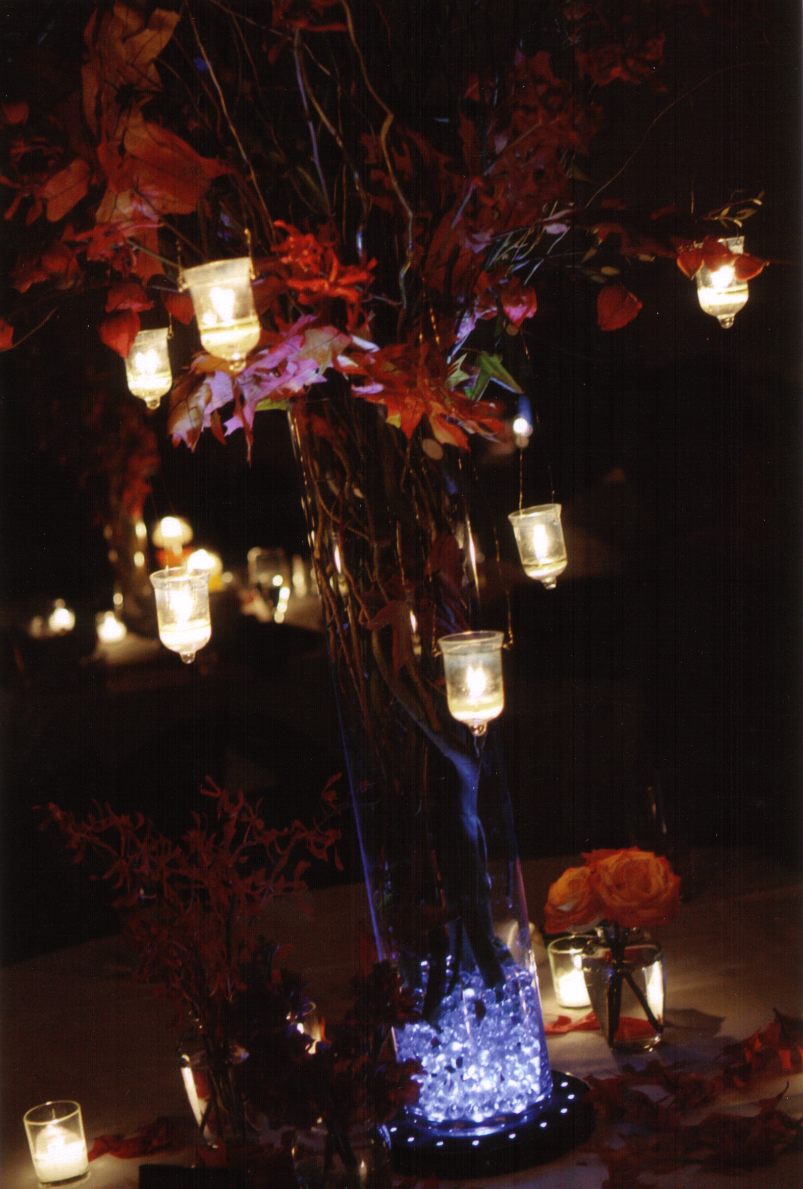 Reception, Flowers & Decor, yellow, orange, red, brown, gold, Centerpieces, Flowers, Centerpiece, Table, Sylvias flowers