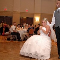 Reception, Flowers & Decor, Bride, Groom, Dancing, Smiling