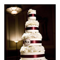 Flowers, Reception, cake, white, purple, Hydrangea, Cakes, Flowers & Decor