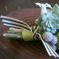 Flowers & Decor, yellow, gray, Boutonnieres, Flowers, Boutonniere, Studio choo