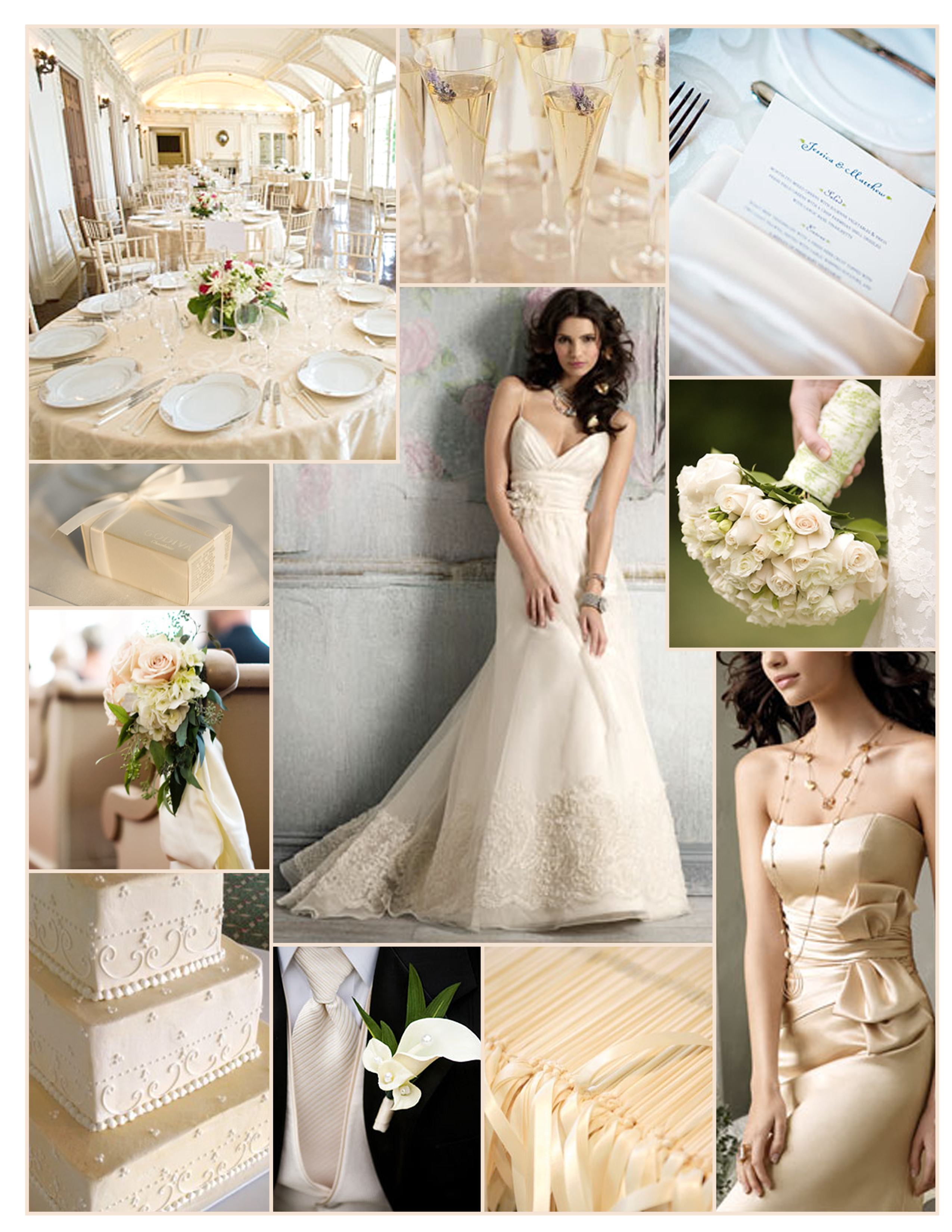 Inspiration, ivory, Jim hjelm, Champagne, Board, Jim hjelm occasions, Ivory roses