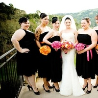 Bridesmaids, Bridesmaids Dresses, Fashion, pink, black, Outdoor, Portrait, Party, Bridal, Blueberry photography