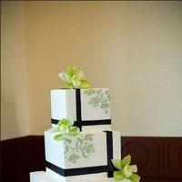 Cakes, green, brown, cake, Square Wedding Cakes, Square