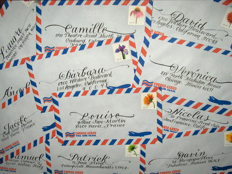 Inspiration, Stationery, red, blue, Invitations, Board, La caligrafa -calligraphy in central america-