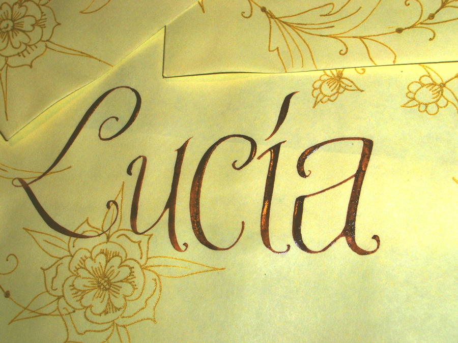 Inspiration, Stationery, yellow, Invitations, Board, La caligrafa -calligraphy in central america-