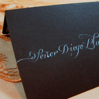 Inspiration, Stationery, black, Invitations, Board, La caligrafa -calligraphy in central america-