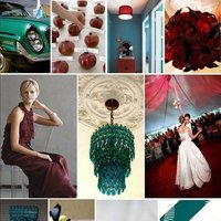 Inspiration, burgundy, Teal, Board